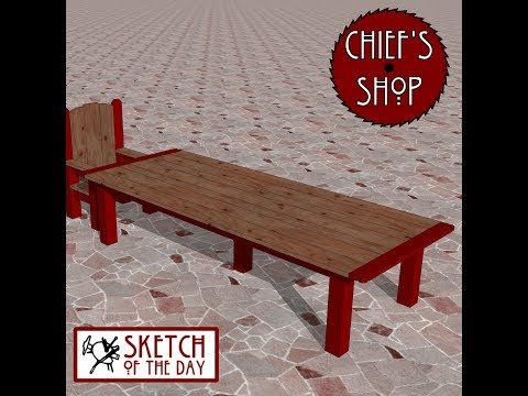 Chief's Shop Sketch of the Day: Banquet Table
