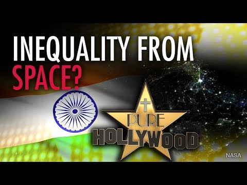 "BBC sees ""income inequality"" in India — from SPACE! 