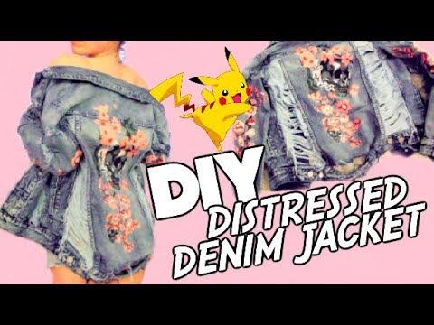 DIY: Distressed Denim Jacket