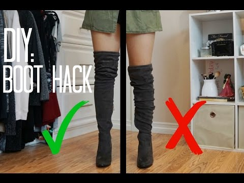 KEEP OVER THE KNEE BOOTS UP | NO SLOUCHING BOOTS