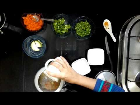 Indian Healthy Baby food Recipe -Moong Dal Vegetable Khichdi for babies (6-9 months+) (No salt)