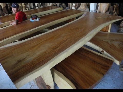 Wooden Slab Table | BOIS EXOTIQUES