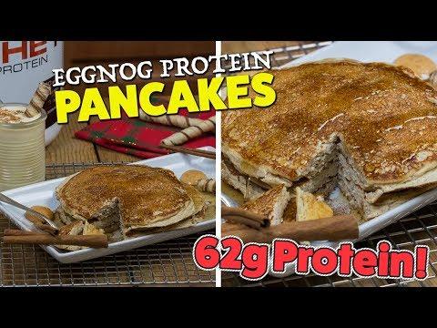 Easy Eggnog PROTEIN Pancakes Recipe