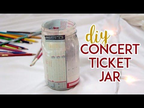How to Make a DIY Concert Ticket Jar