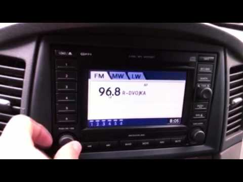 jeep grand cherokee changing the time on the radio navi