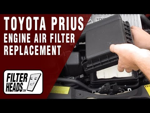 How to Replace Engine Air Filter 2010 Toyota Prius L4 1.8L