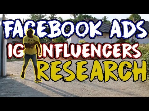 Shopify For Beginners - Facebook Ads & Instagram Influencer Research