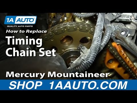 Part 2 How To Install Replace Timing Chain Tensioner and guides 4.6L Ford V8