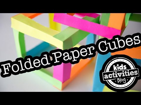 Folded Paper Cubes