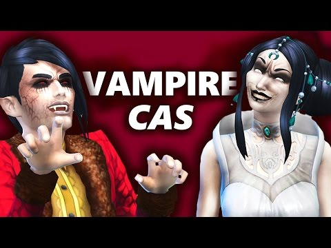 The Sims 4 VAMPIRES | Creat a Sim Review | Fangs, Hair, Scars, Dresses...