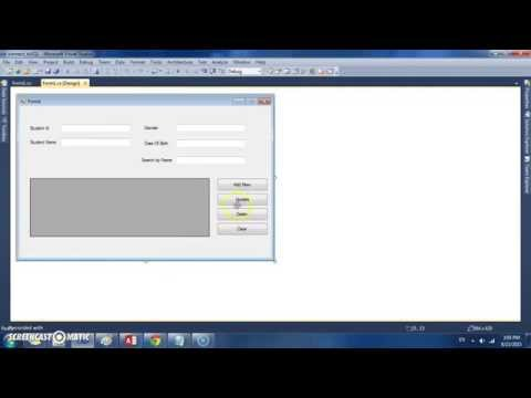 C# How to Search and clear textbox data from form to database # part #7