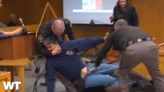 Victims' Dad ATTACKS Larry Nassar In Court - CAUGHT ON CAMERA   What's Trending Now!