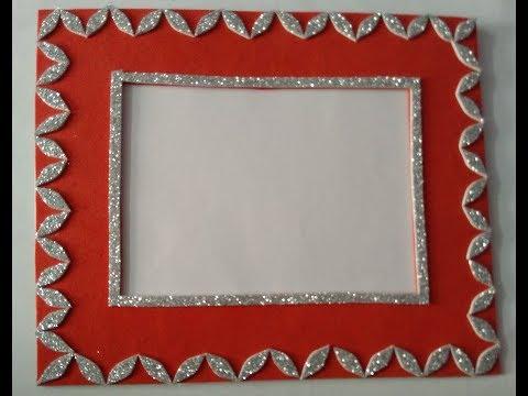 Handmade photo frame   beautiful photo frame   easy and simple frame   handmade frame