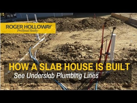 How A Slab House is Built - See the Plumbing Lines