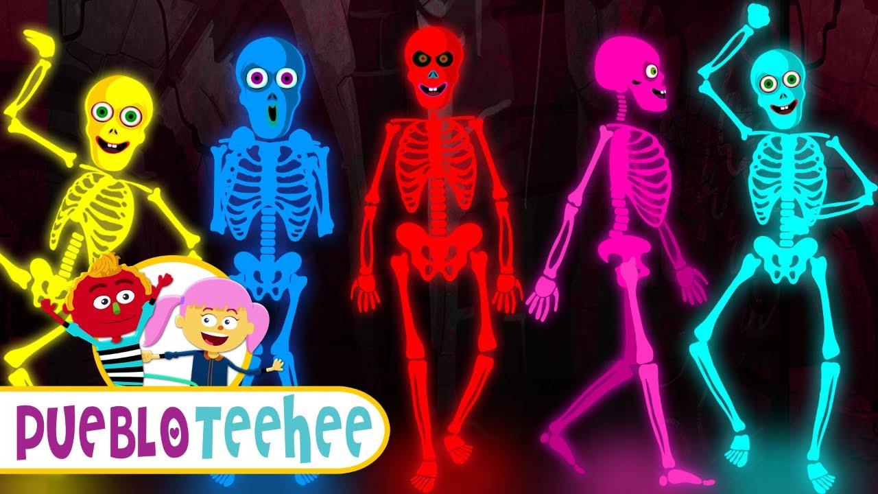 Pueblo Teehee | Cinco Esqueletos Salieron Una Noche - Canciones Infantiles