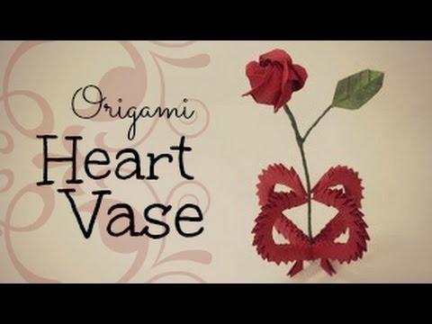 Valentine's day gift~ 3D Origami Heart Vase