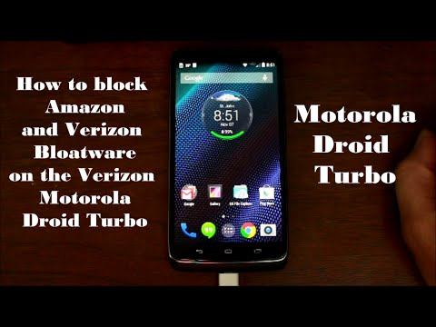 How to Block Remove Verizon and Amazon Apps on the Motorla Droid Turbo
