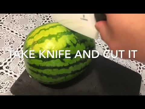 How to cut watermelon NEW AND FAST WAY!