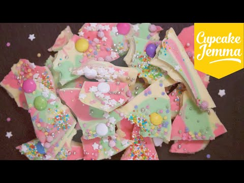 How to Make Magical Coloured Chocolate Bark | Cupcake Jemma