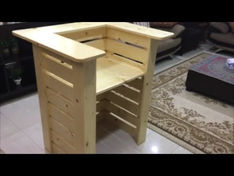 how to build a front desk table