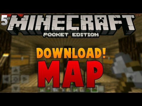 Ayo Main Survival Ep.5 - MAP DOWNLOAD!! - Minecraft PE (Pocket Edition) Indonesia