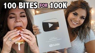 100 bites for 100k subs! MUKBANG Compilation