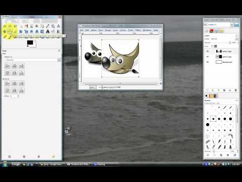 Make Pictures Side By Side Using Free Gimp 2.6