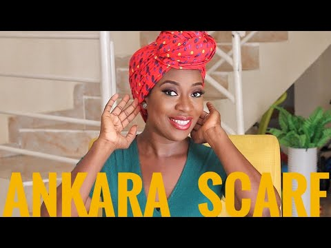 SIMPLE ANKARA HEADWRAP/SCARF TUTORIAL