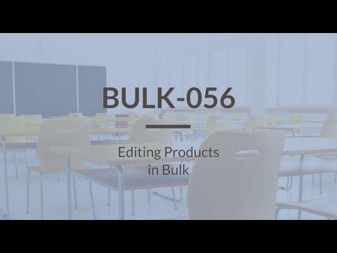 SureDone: Bulk Training (4 of 4) - Editing Products in Bulk