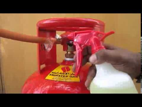 Check Gas Leak with Water Soap Solution – Leaky Connection