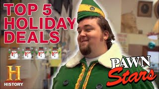 Pawn Stars: 5 GOLDEN HOLIDAY DEALS (Rick's Rare Christmas List) | History