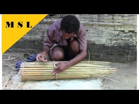 Asian BAMBOO FISH TRAP part1, Jungle Bushcraft / Survival