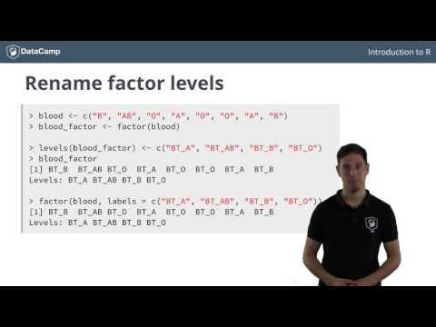 R tutorial - Using Factors in R