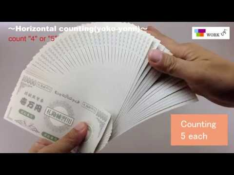 money counting in Japan