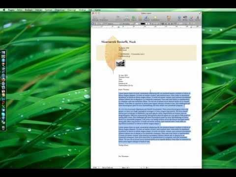 Pages, Numbers, Keynote på en Mac
