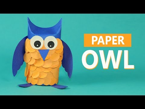 Kids Crafts Paper Animals- Paper Owl Craft for Kids
