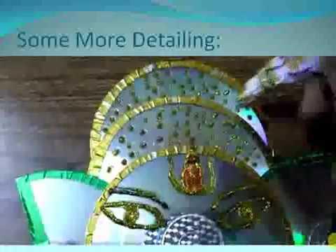 Art Material from waste CDs:Ganesha model
