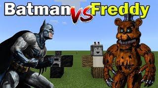 Batman vs Freddy | Minecraft PE