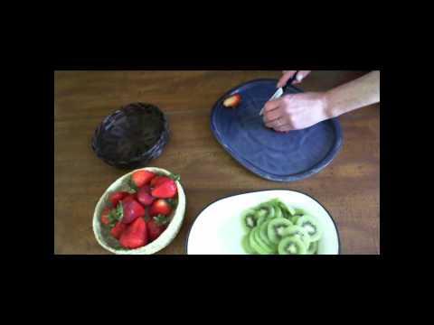Frozen Strawberry Kiwi Pie