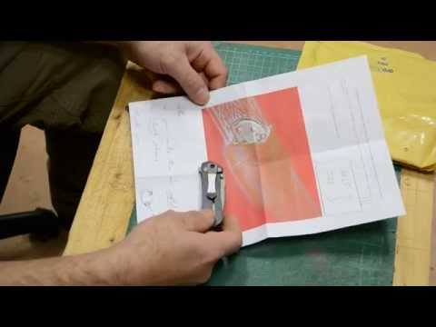 How to make a simple sheath for folding knife -part 1