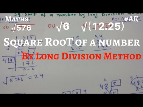 how to find square root of a number by long division method