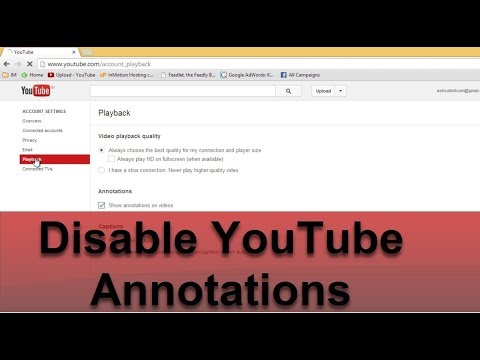 How To Disable Youtube Annotations