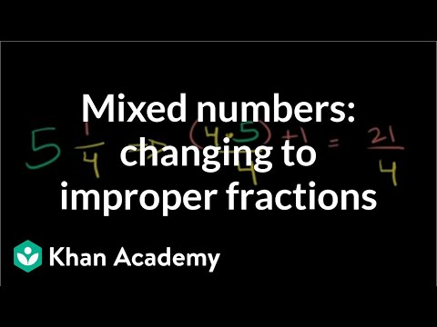 Mixed numbers: changing to improper fractions | Fractions | Pre-Algebra | Khan Academy