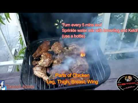 Jerk Chicken on Charcoal Grill