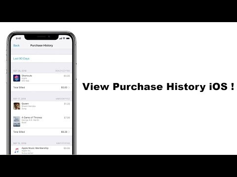 How To  View Purchase History In iPhone IOS 12