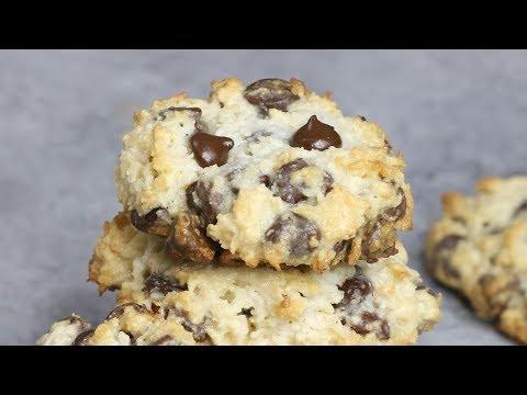 4 Ingredient Chocolate Chip Coconut Cookies