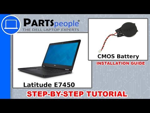 Dell Latitude E7450 CMOS Battery Replacement Video Tutorial