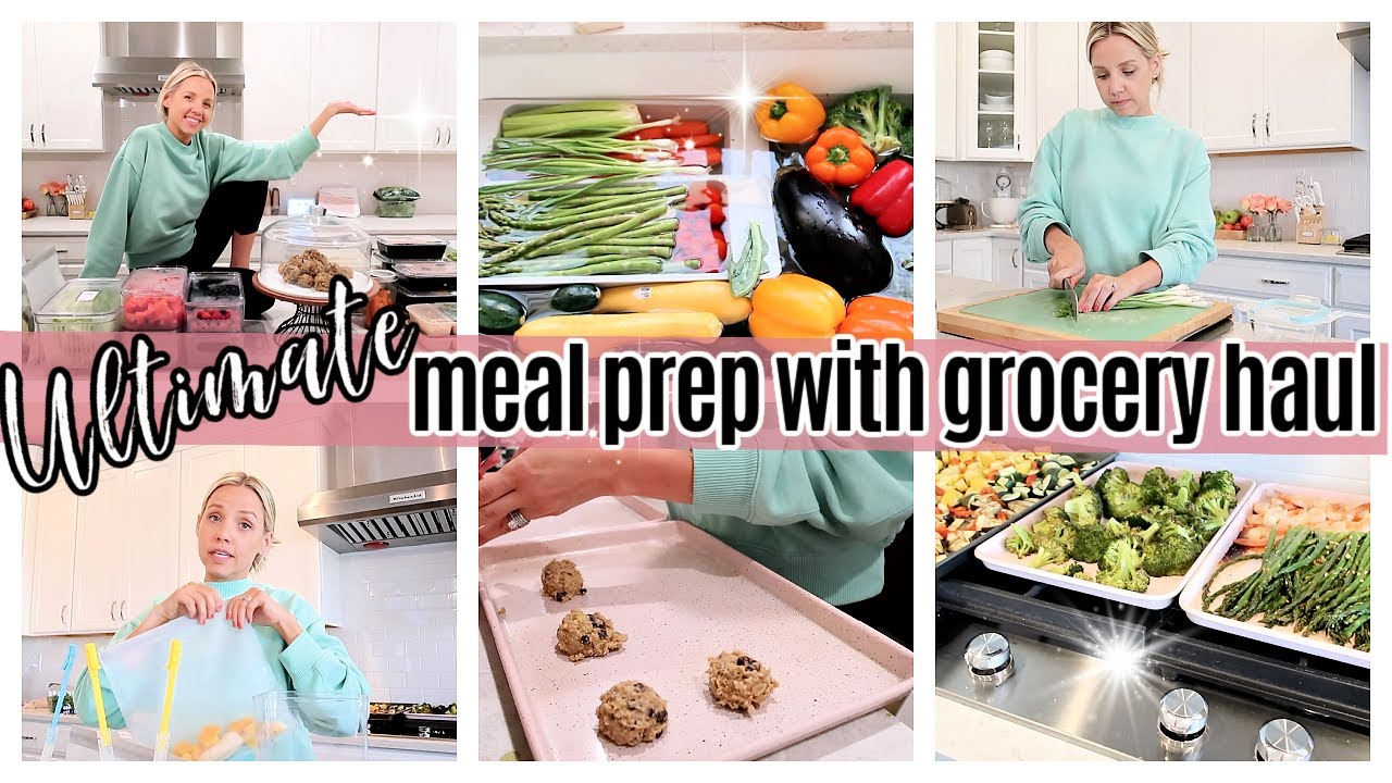 *NEW* ULTIMATE MEAL PREP + GROCERY HAUL // COOK WITH ME 2021 // TIFFANI BEASTON HOMEMAKING 2020 SAHM