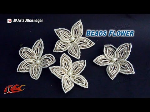 DIY Pearl and Beads Flower for trousseau packing | How to make | JK Arts 776