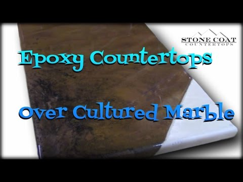 Epoxy Countertops over old Cultured Marble